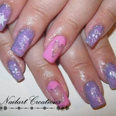Be my valentine  nail art by Nailart Creations