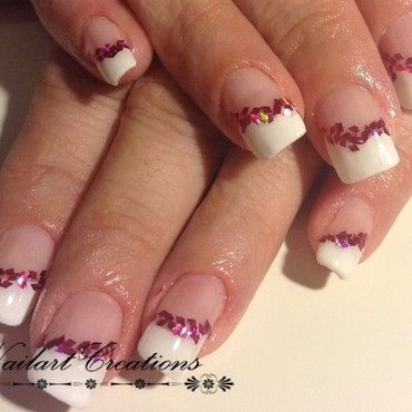 French with a touch nail art by Nailart Creations