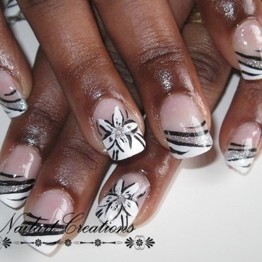 Black & White nail art by Nailart Creations