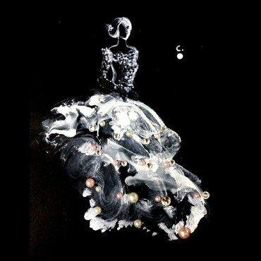 Black Swan nail art by Chan  Clayrene