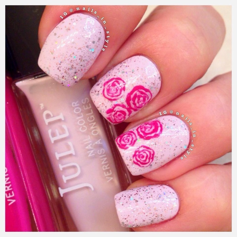 Roses for mom nail art by Nails_In_Style