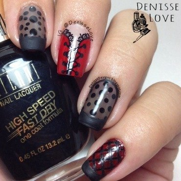 Burlesque nails nail art by Denisse Love