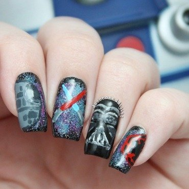 May the Fourth Be With You nail art by Jordan