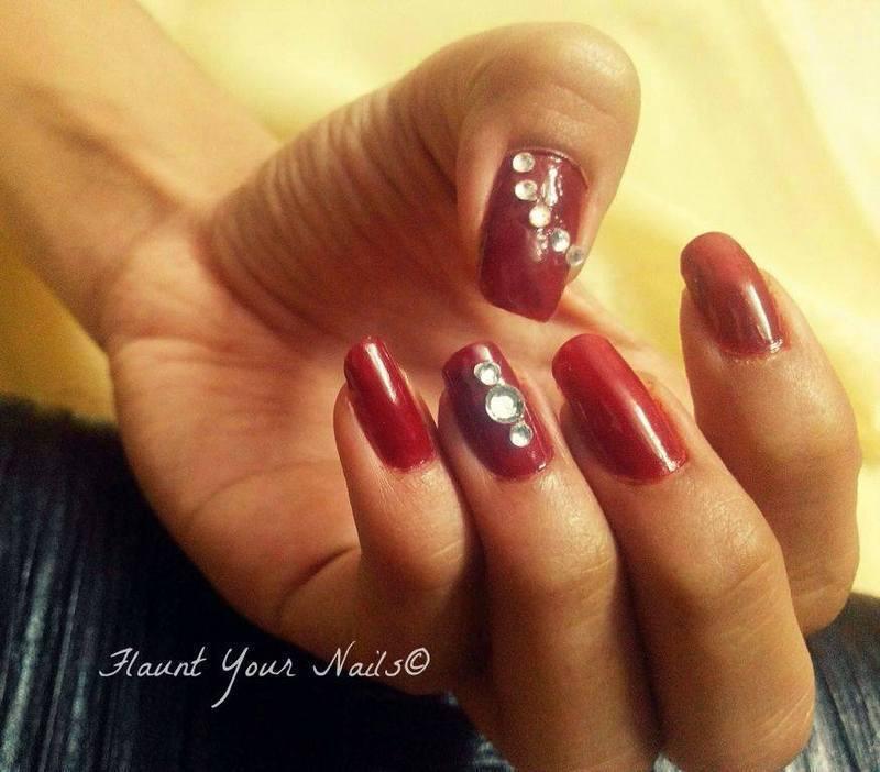 Diamonds are a nail's best friend.! nail art by Vidula Kulkarni