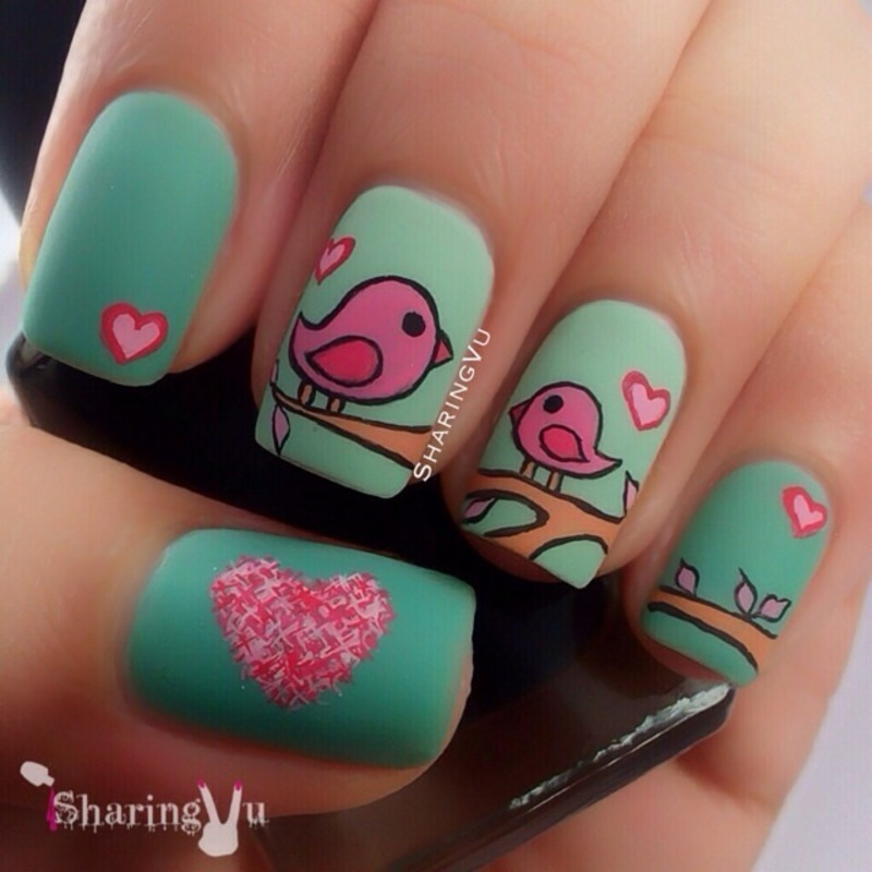 💕Mother's Day Nail Art💕  nail art by SharingVu