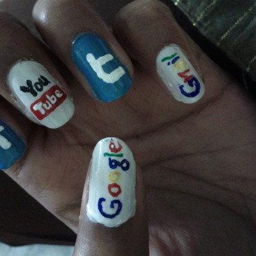 web  nail art by Radhika