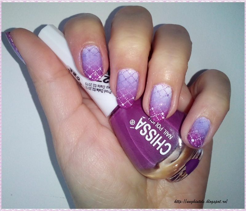 Reciprocal Gradient nail art by Oana  Alexandru