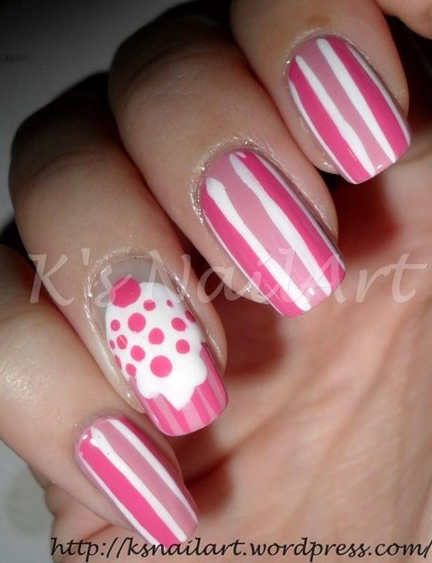 """Pink Cupcake Nails nail art by Kairi E """"K's NailArt"""""""
