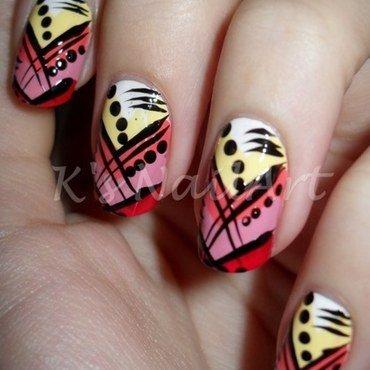 """Abstract Nails nail art by Kairi E """"K's NailArt"""""""