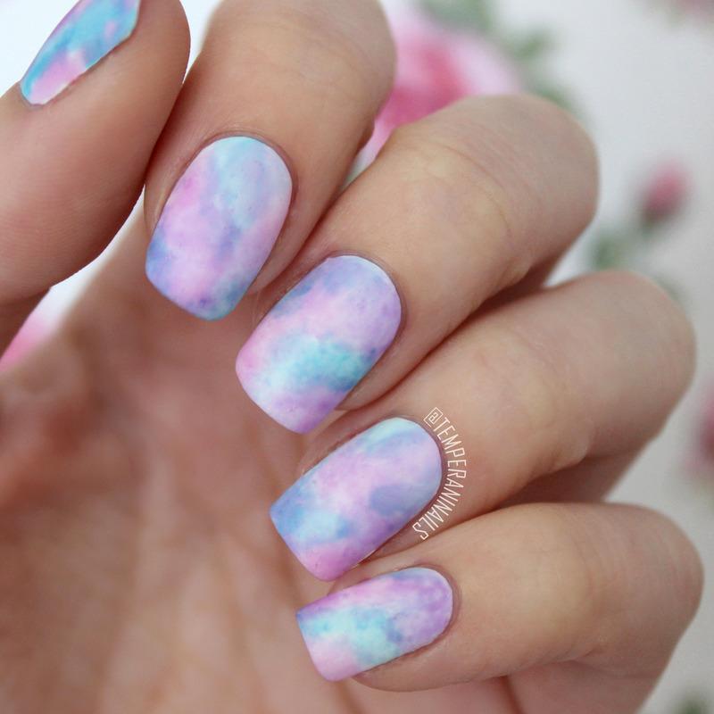 Sheer Tints Watercolor Nail Art By Temperani Nails Nailpolis