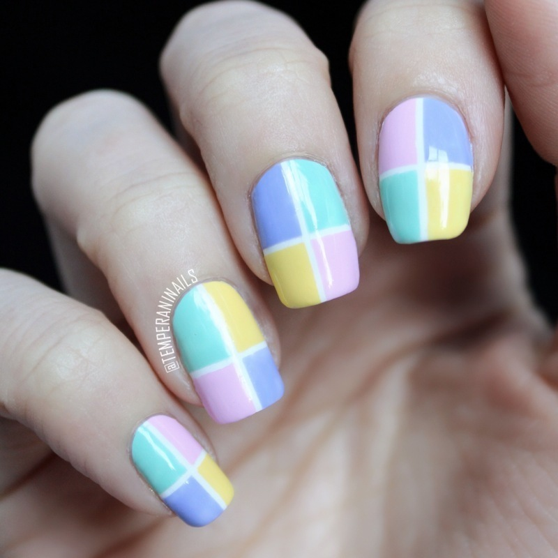 Color block nail art by temperani nails nailpolis museum of color block nail art by temperani nails prinsesfo Images