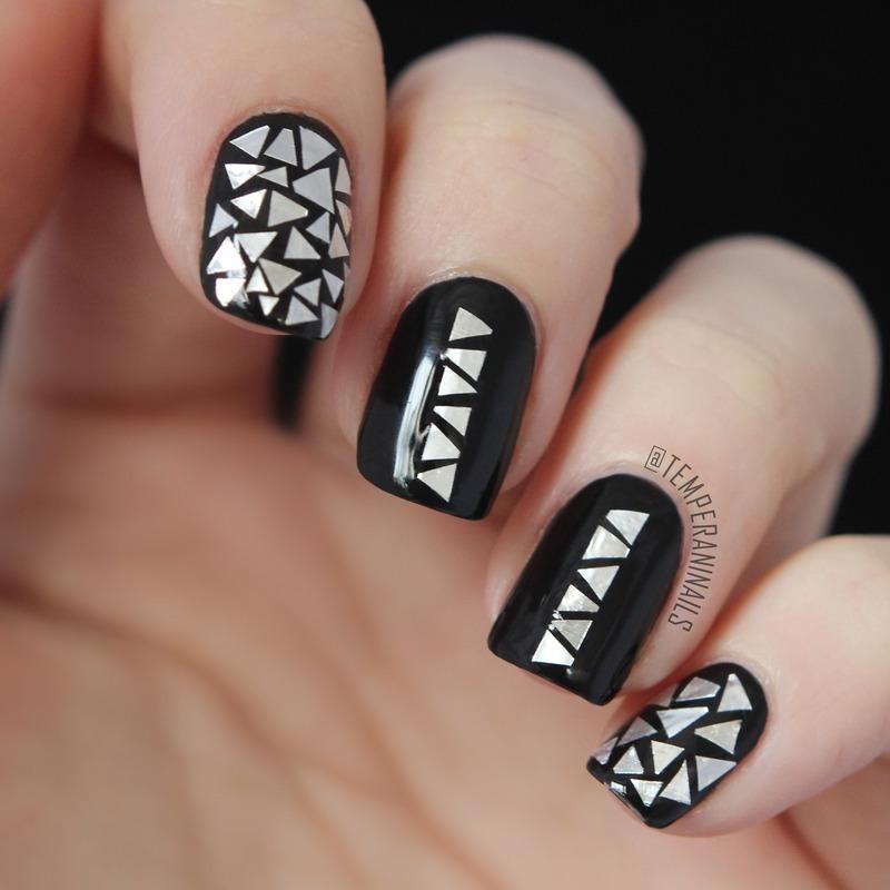 Aluminum foil flakes nail art by temperani nails nailpolis aluminum foil flakes nail art by temperani nails prinsesfo Images
