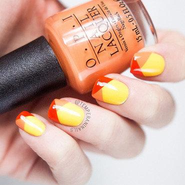 Color block nail art by Temperani Nails