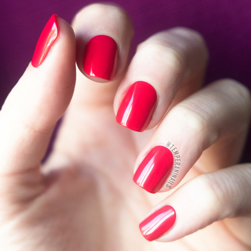 Isadora Hot Hibiscus Swatch by Temperani Nails