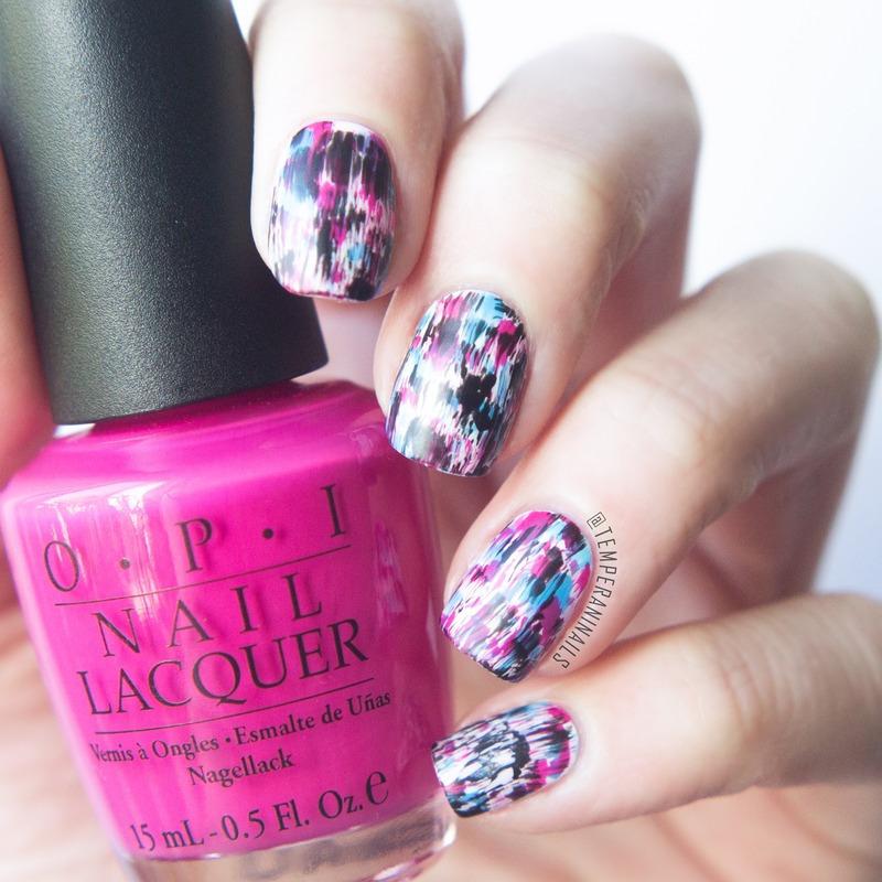 Distressed nails nail art by Temperani Nails