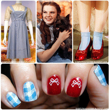 Dorothy Gale, from Kansas nail art by Samantha Rae