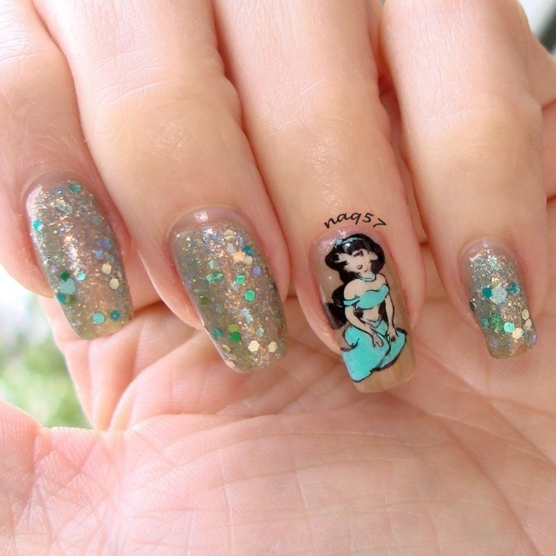Princess Jasmine Nails: Princess Jasmine Nail Art By Nora (naq57)