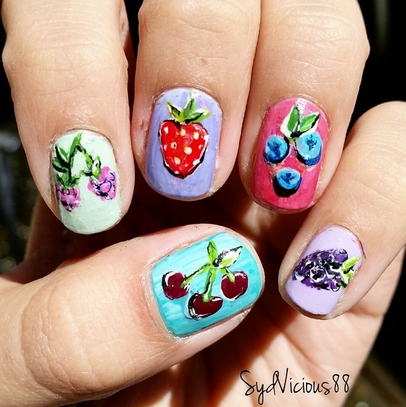 Berries nail art by SydVicious