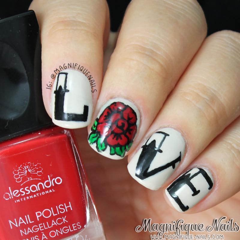 L.O.V.E nail art by Ana