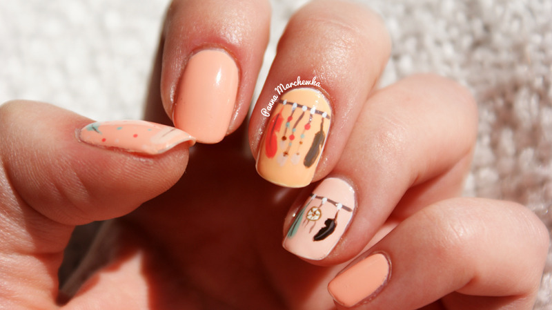 The feather nails. nail art by Panna Marchewka