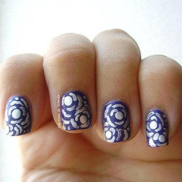 flores de amor nail art by Yolanda flores