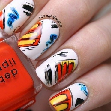 80's inspired nails :) nail art by Let's Nail Moscow