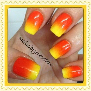 Sunrise Gradient nail art by Riece