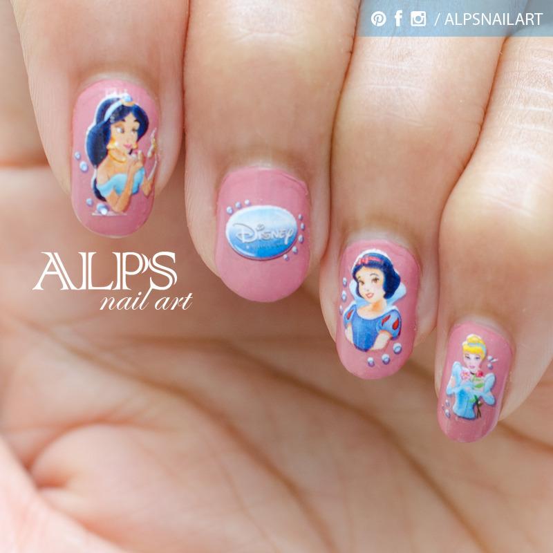 Disney Princess Nailart by Alpsnailart nail art by Alpsnailart