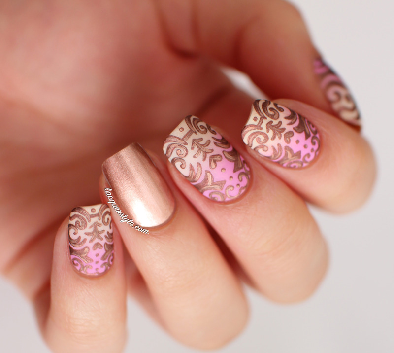 Nailpolis museum of nail art romantic baroque nail art nail art by kristin lacquerstyle prinsesfo Images