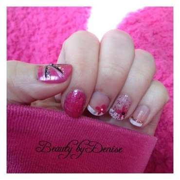 Pink to make the boys wink nail art by Denise's Beauty Spot
