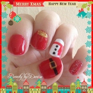 Christmas nail art by Denise's Beauty Spot