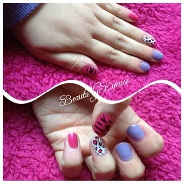 Animal Print nail art by Denise's Beauty Spot