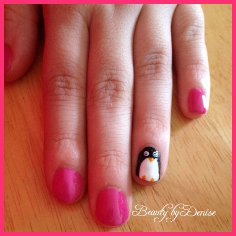 Penguin in Disguise nail art by Denise's Beauty Spot