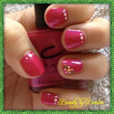 Flowers in Pink nail art by Denise's Beauty Spot
