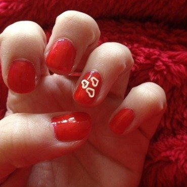 Valentines Day nail art by Denise's Beauty Spot