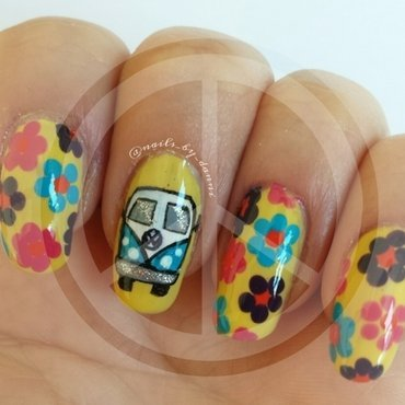 vw flower power! nail art by Danielle  Hails