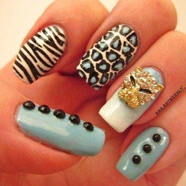 """Cattitude"" nail art by Karolyn"