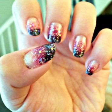 Aurora Borealis nail art by Sonja Delicana