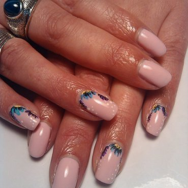 Mothers Day Flowers nail art by Chanelle Bone