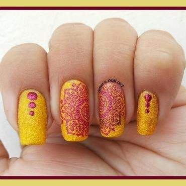 sun shine.. nail art by Uma mathur