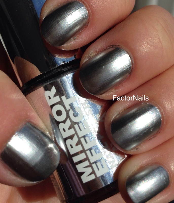 Layla Metal chrome Swatch by Factornails