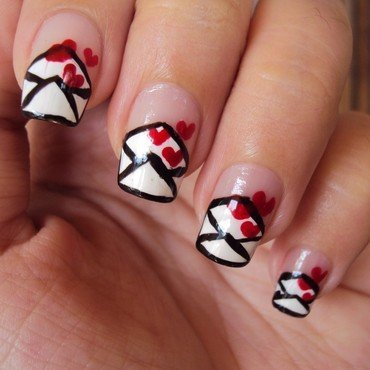 Love Letter nail art by Judy Ann Chio