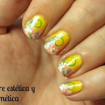 Inspired by Flora (Winx Club) nail art by MartaRuso