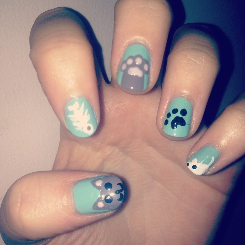 Kitty Kat nail art by Paige Finemore