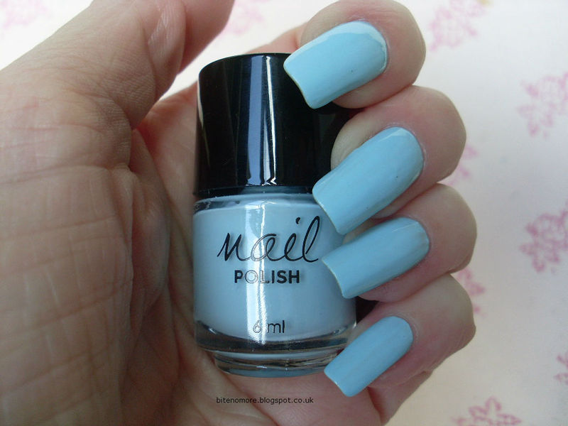 Primark Baby Blue Swatch by Tracey - Bite no more