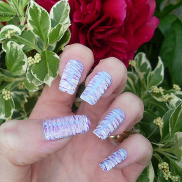 Fan Brush Striped Nails nail art by Tracey - Bite no more
