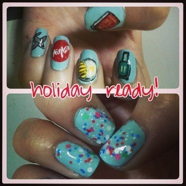 Holiday Ready ! nail art by JingTing Jaslynn