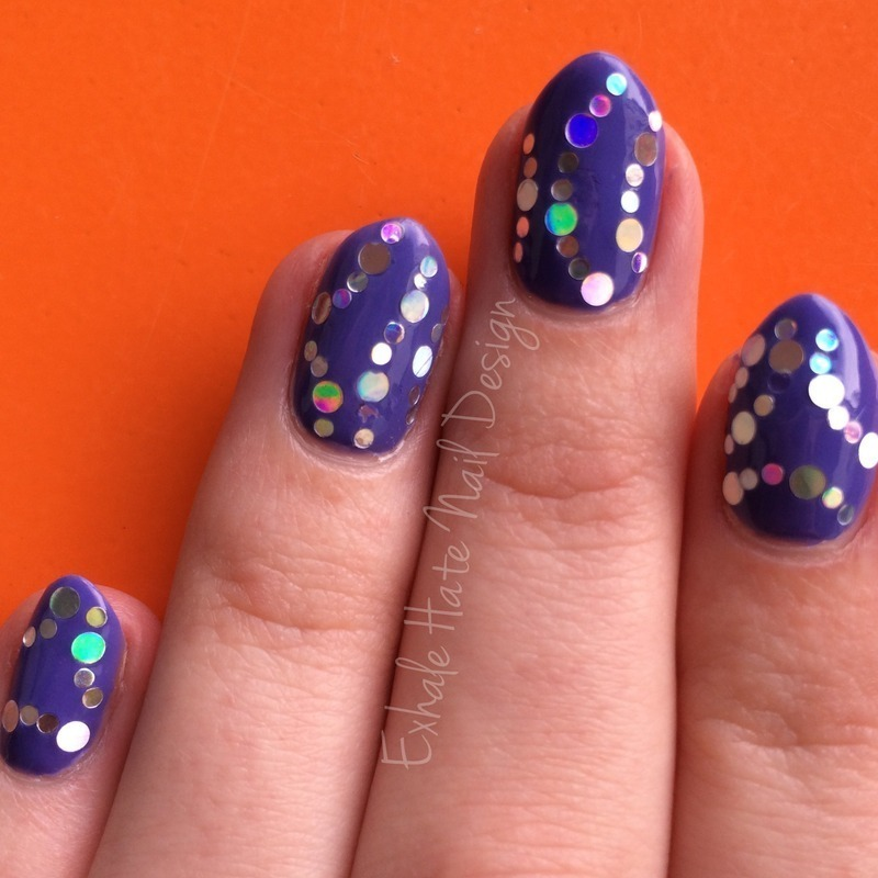 Glitter Placement nail art by Courtney Haines