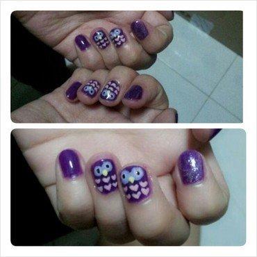 Hoot hoot. nail art by JingTing Jaslynn