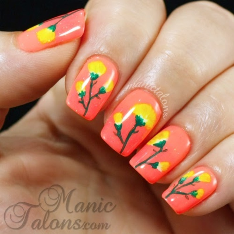 Bright Flowers for Summer nail art by ManicTalons